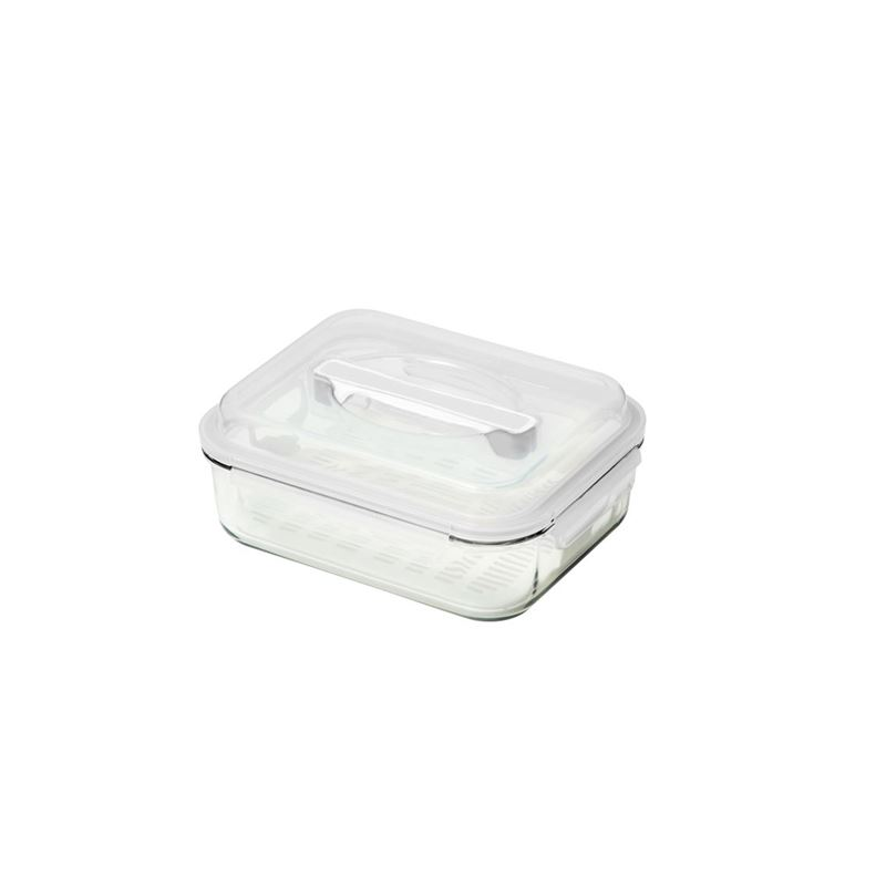 Glasslock – Handy Food Container with Marinating Insert 2Ltr