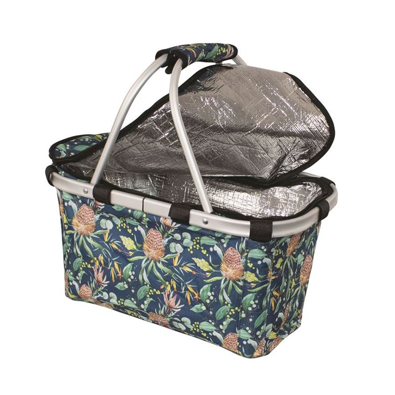 Karlstert – Two Handled Foldable Carry Basket with Zip Lid Native
