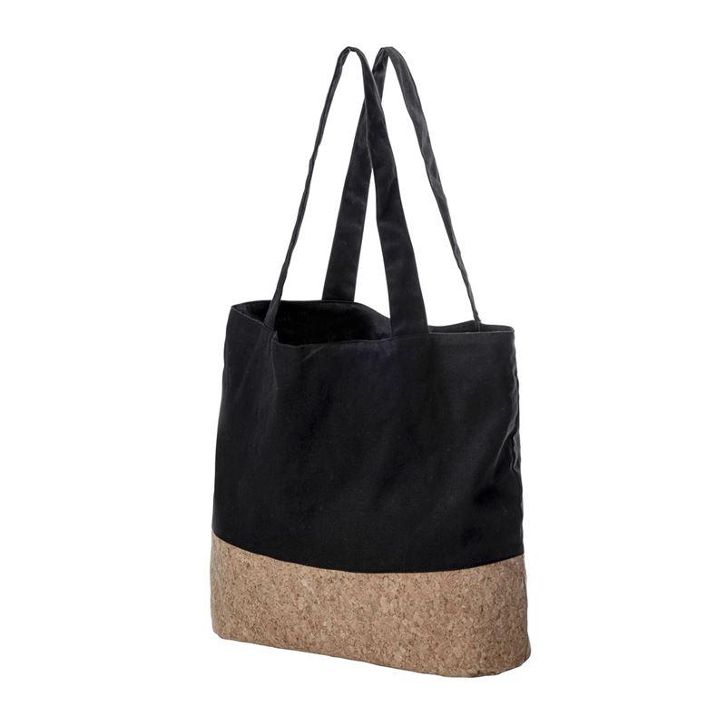 Karlstert – Canvas & Cork Pocket Grocery Bag Black