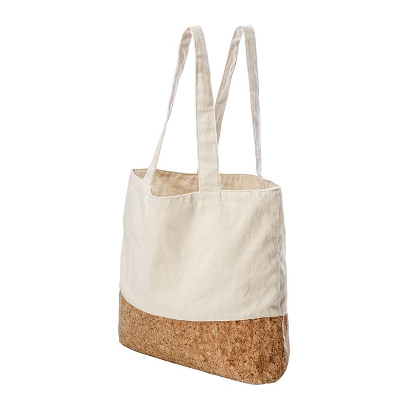 Karlstert – Canvas & Cork Pocket Grocery Bag Natural