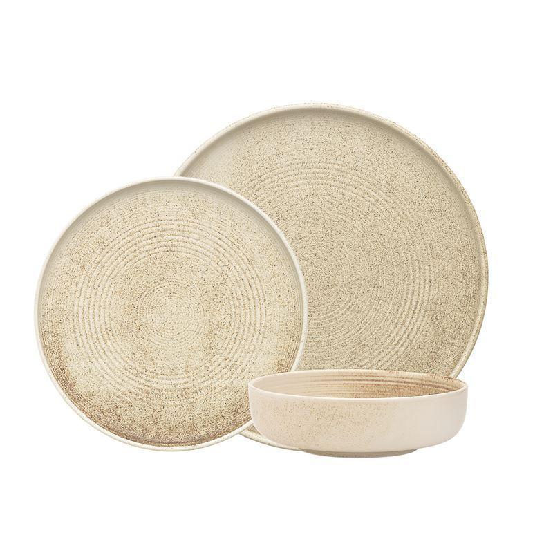 Ecology – Siena Linen Durable Porcelain 12pc Dinner Set