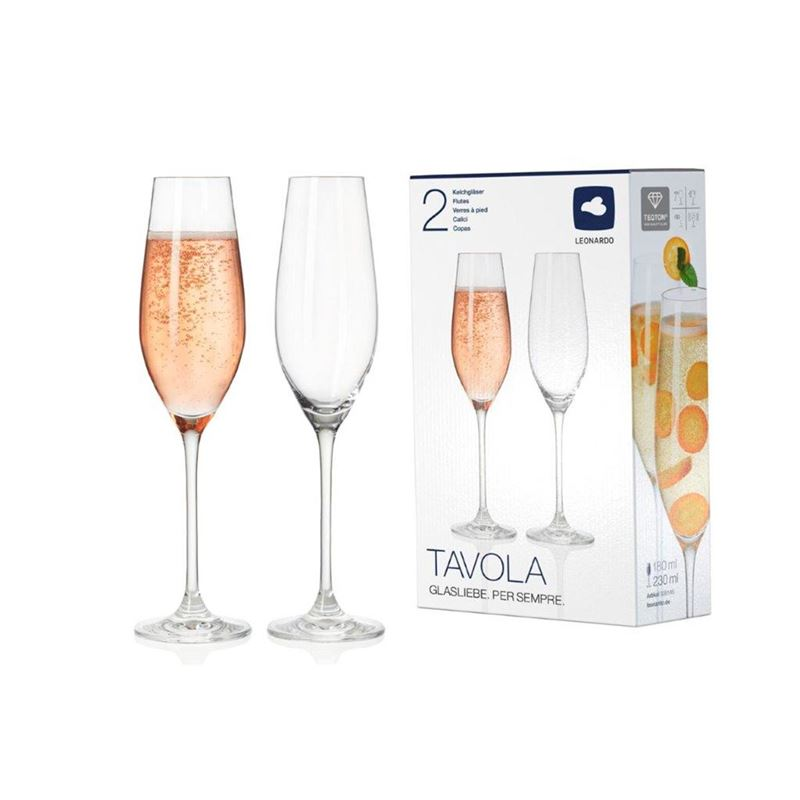 Leonardo – Tavola Champagne Glass 230ml Set of 2 (Made in Europe)