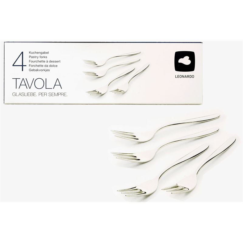 Leonardo – Tavolo 18/10 Stainless Steel Pastry Forks Set of 4