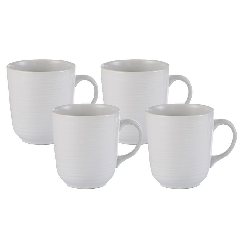 Mason Cash – William Mason 4pc Stoneware Mug White