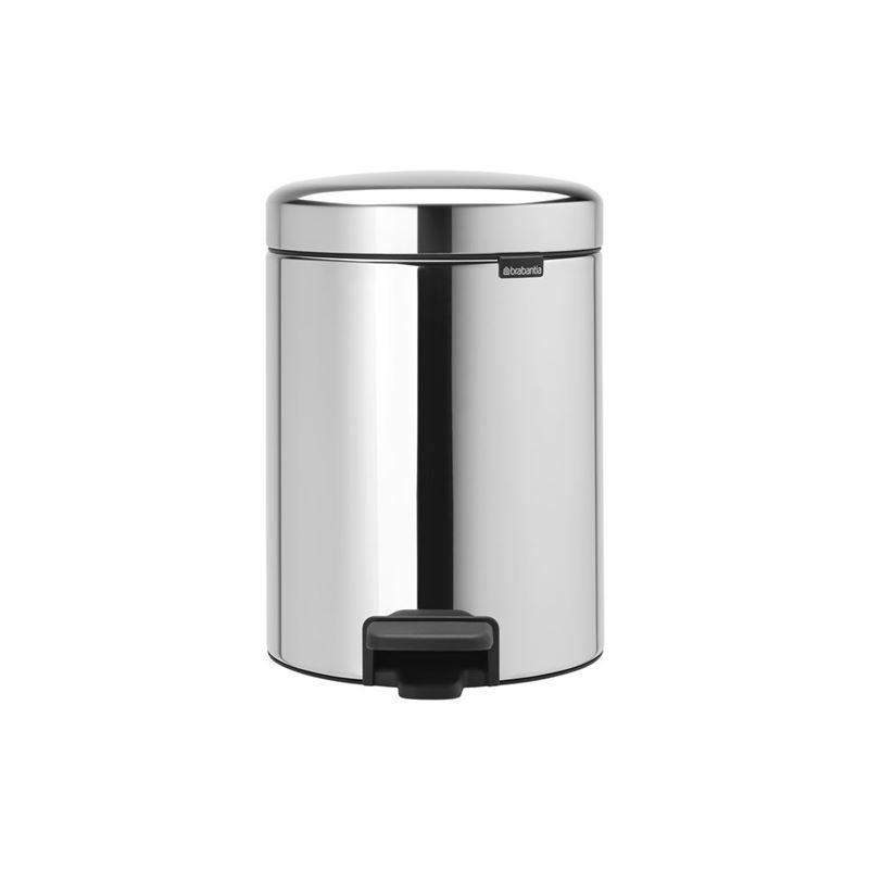 Brabantia – newICON Pedal Bin 2x2Ltr Brilliant Steel