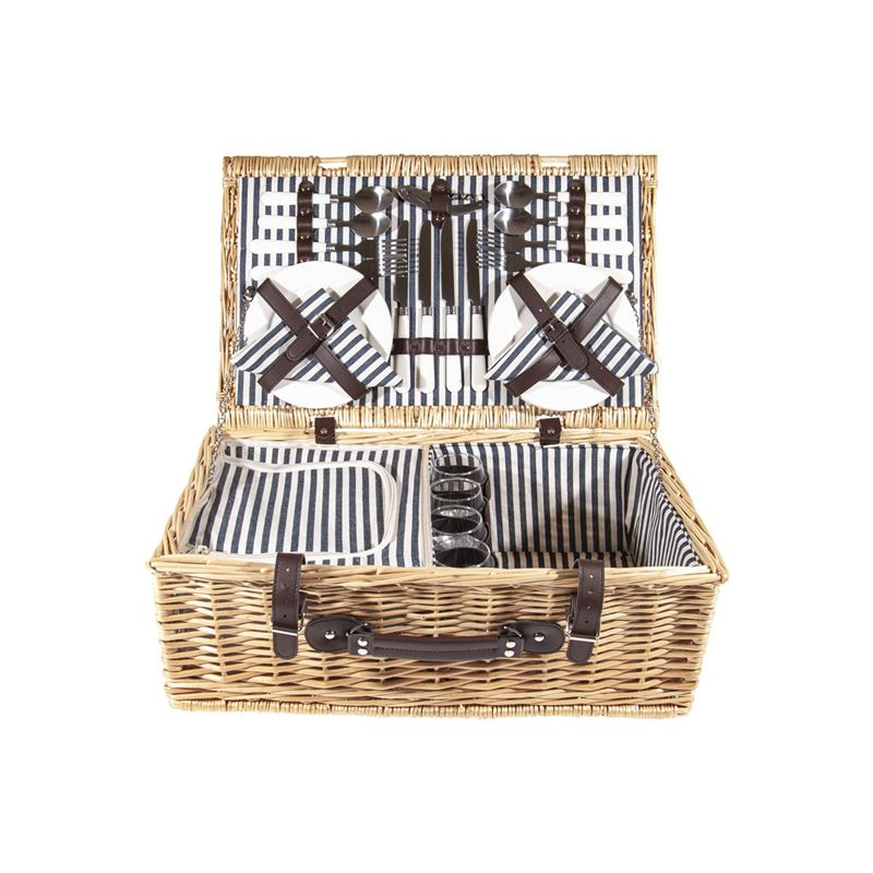 Zuhause – Pollo Picnic Basket for 4 with Keep Cool Compartment 56x36x42cm