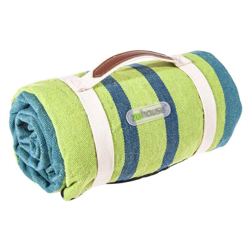 Zuhause – Basils Picnic Rug 200x150cm Blue/Green Stripe