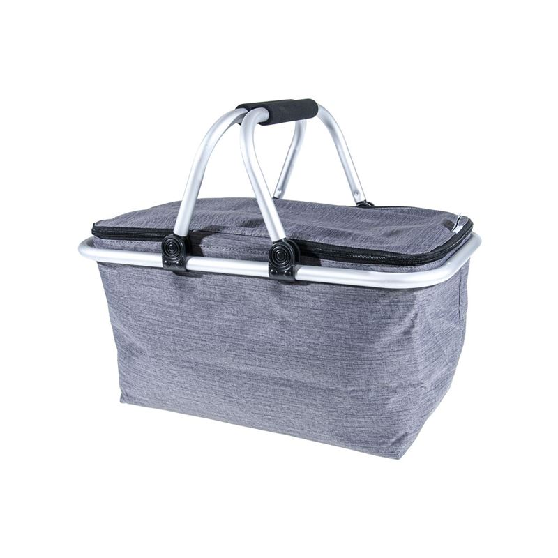 Zuhause – Kurtis Insulated Foldable Basket 48x28x24cm Steel Grey