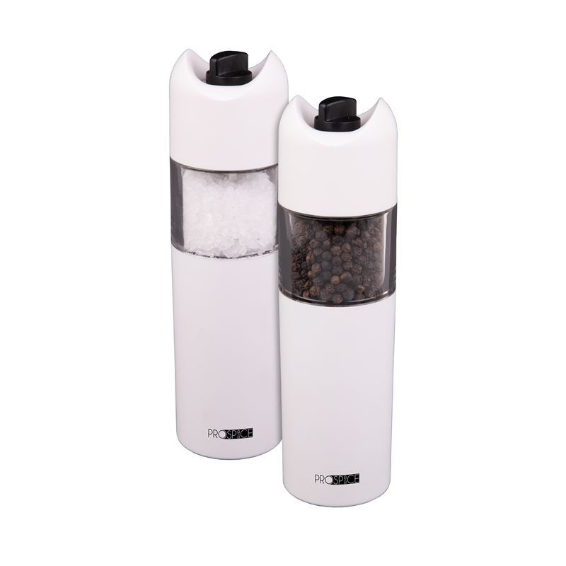 ProSpice – Horizon White Salt and Pepper Battery Operated Mill Set 18cm