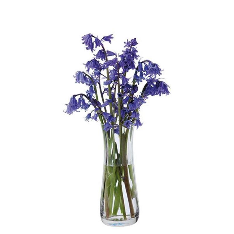 Dartington – Florabundance Crystal Bluebell Vase 18.5cm (Made in the U.K.)