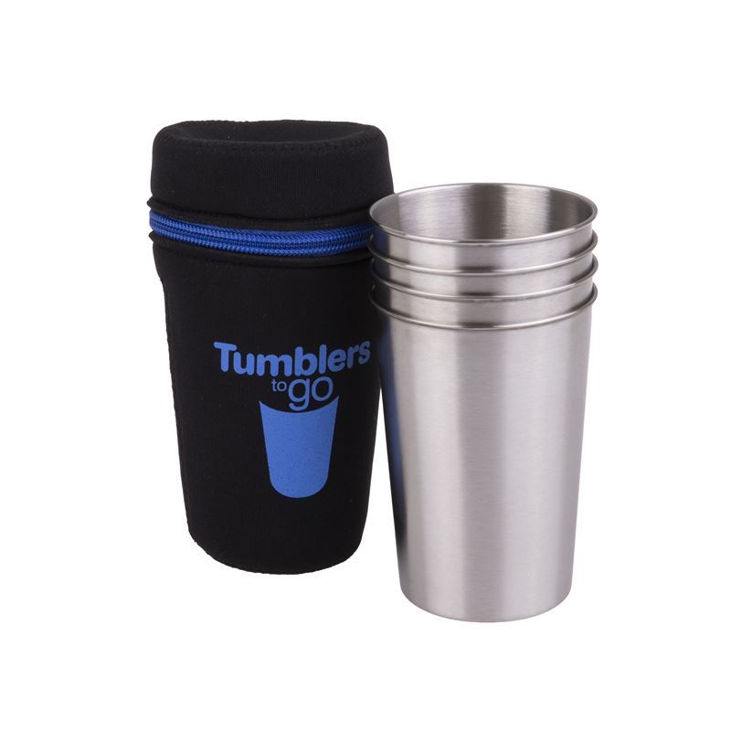 D-Line – Go Stainless Steel Tumblers to Go 350ml set of 4