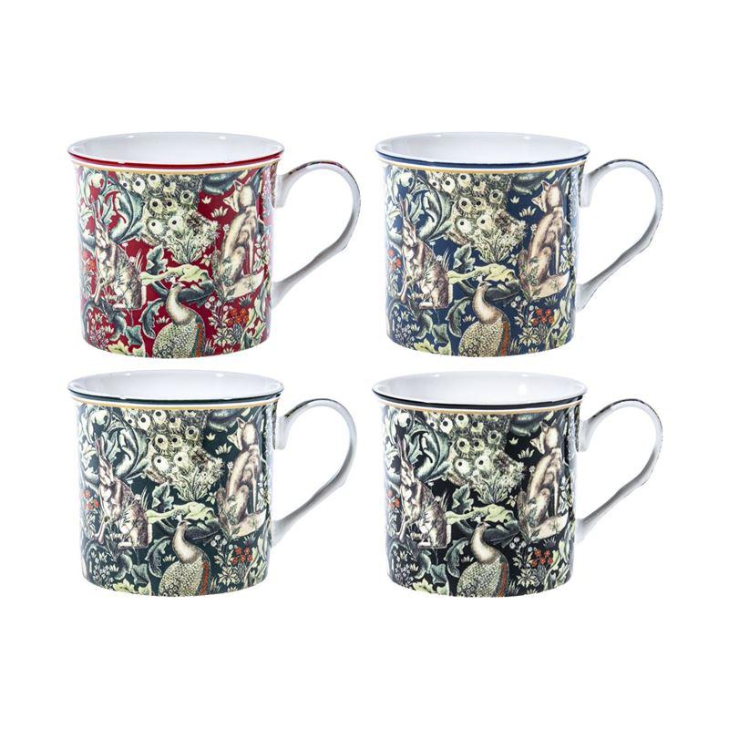 Nostalgic Ceramics – Fine China William Morris Woodland Tapestry Mug 270ml set of 4