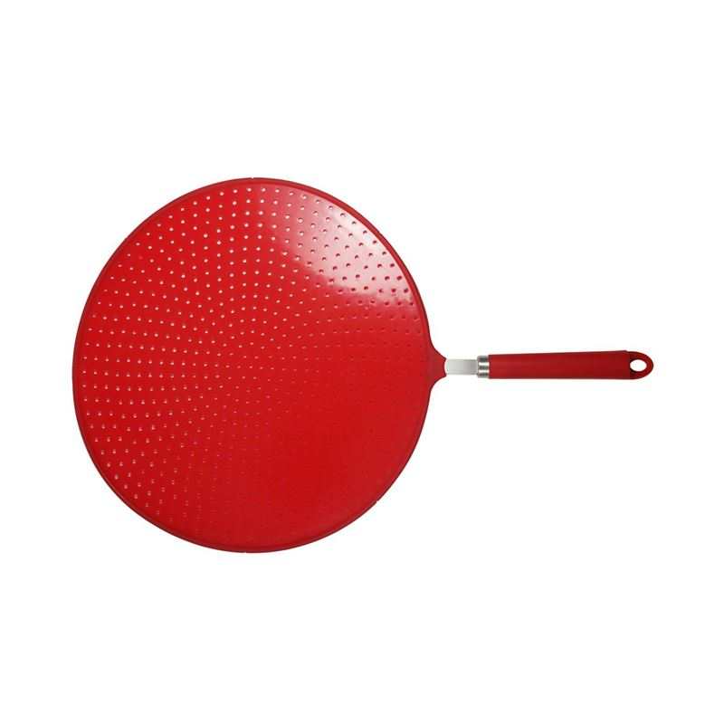 Avanti – Silicone Oil Splatter Screen with Soft Touch Handle 32.8cm Red