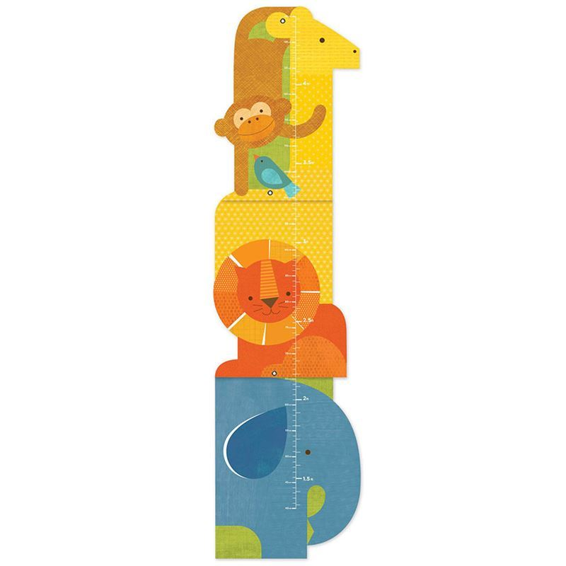 Petit Collage – Animal Tower Folding Growth Chart