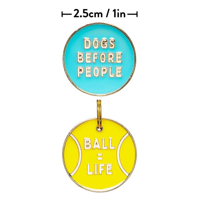 Wild & Woofy – Lapel Pin and Dog Tag Set