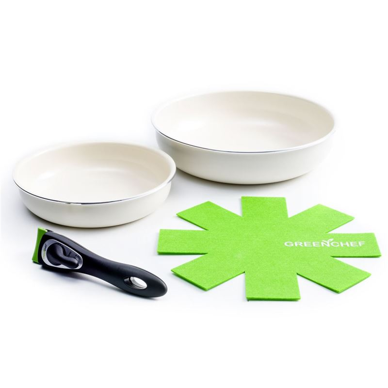 GreenChef – Clickpan Ceramic Non-Stick Induction 4pc Cookware Set