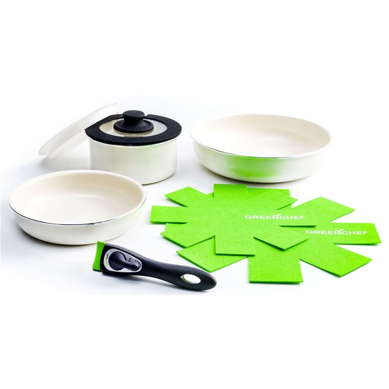 GreenChef – Clickpan Ceramic Non-Stick Induction 8pc Cookware Set