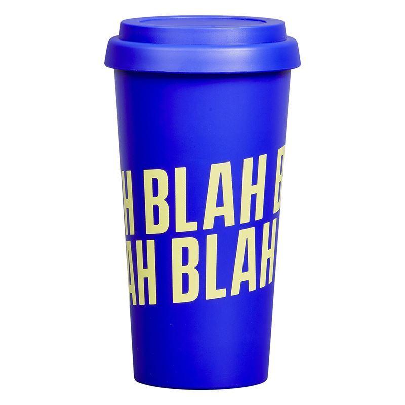 Yes Studio – Travel Mug Blah Blah Blah Blue 470ml