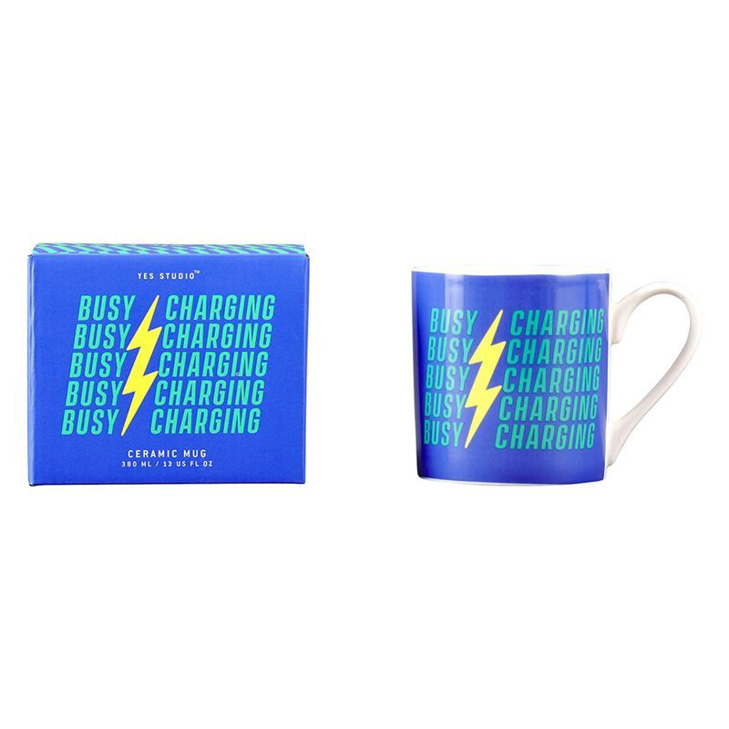 Yes Studio – Ceramic Mug 380ml Busy Charging