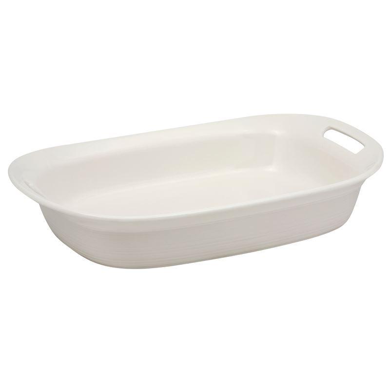 CorningWare Etch White Linen – 2.85Ltr Oblong Baker