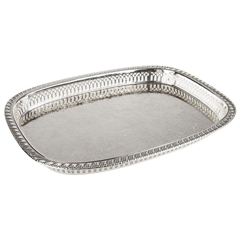 Whitehill – Silver Plated Oblong Gallery Tray 39×28.8cm