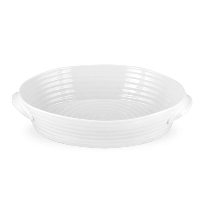 Sophie Conran for Portmeirion – Ice White Large Oval Roasting Dish 35×23.5×7.5cm