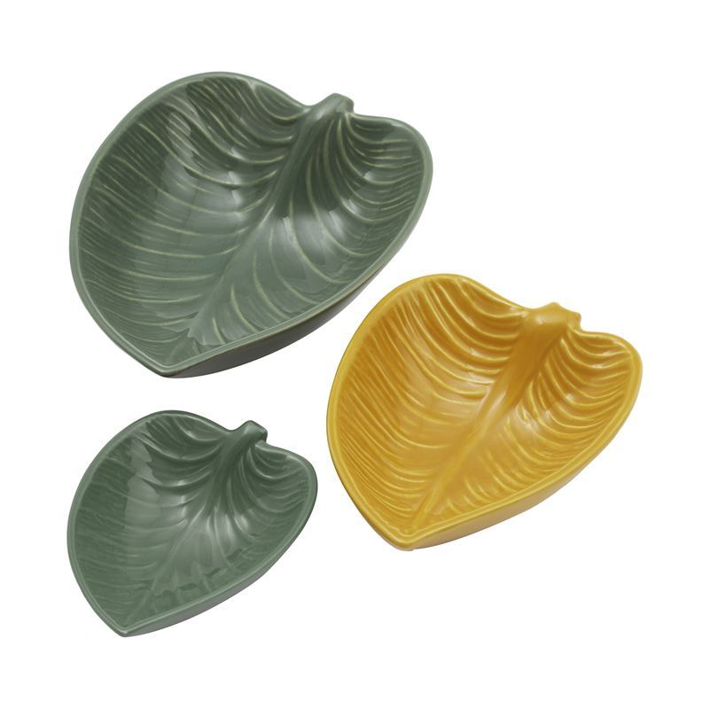 Mason Cash – Into the Forest Collection Set of 3 Leaf Dishes