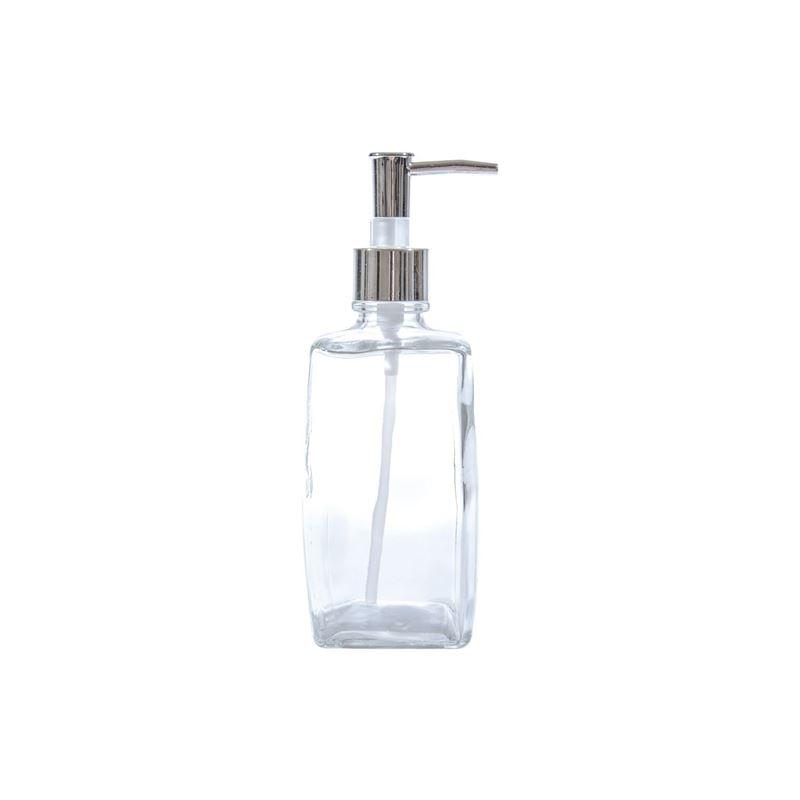 Circleware – Vintage Retro Square Glass Soap Pump Clear 500ml