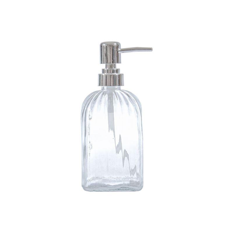 Circleware – Vintage Retro Optic Square Clear Glass Soap Pump