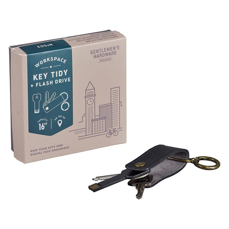 Gentleman's Hardware – Key Tidy with USB 16GB Flash Drive