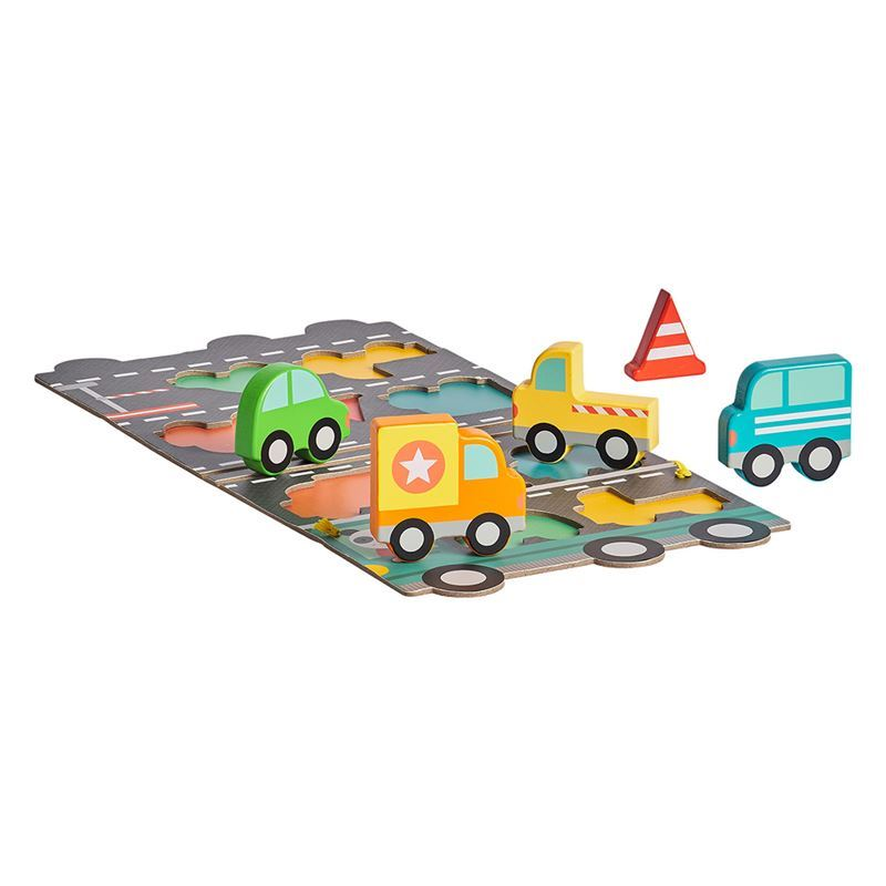 Petit Collage – Big Truck 5pc Wooden Puzzle