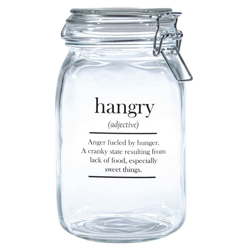 Circleware – Oakland 1.4Ltr Glass Canister with Hemetic Lid Hangry