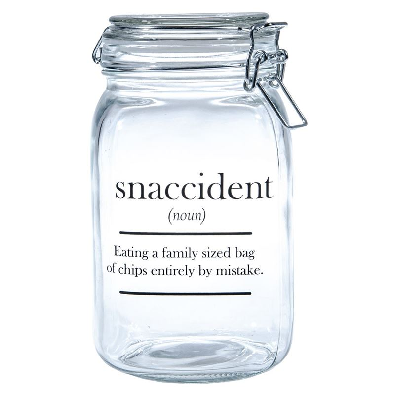 Circleware – Oakland 1.4Ltr Glass Canister with Hemetic Lid Snaccident