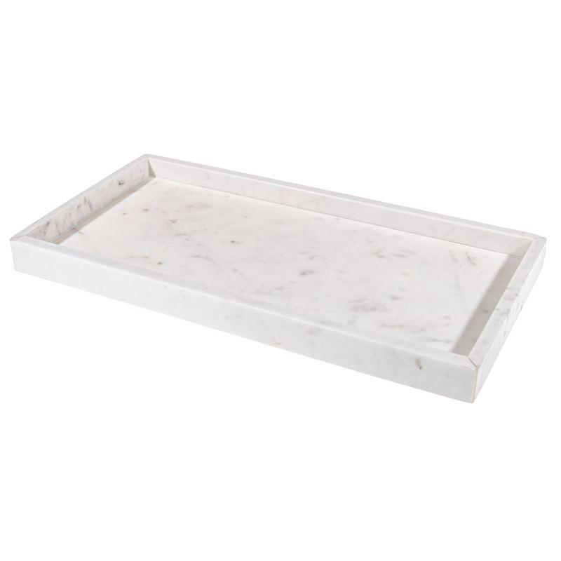 Zuhause – Karmela White Marble Oblong Dish 40x20x2cm