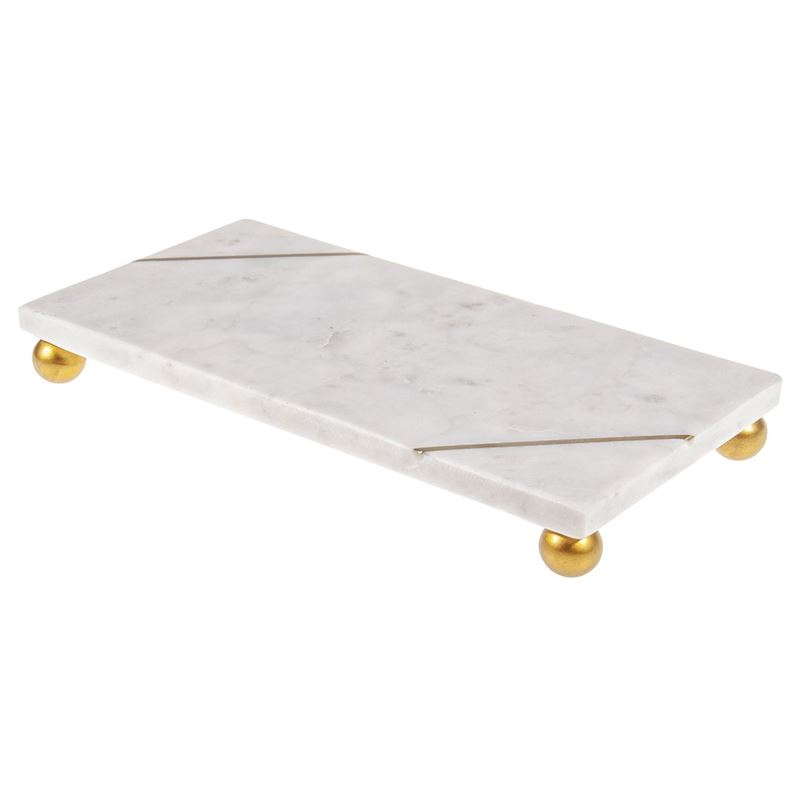 Zuhause – Franz White Marble Oblong Presentation Board Large 30x15x4cm