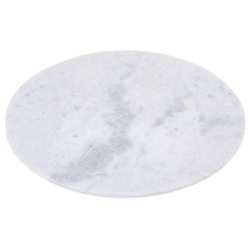 Zuhause – Karmela White Marble Round Serving Board 30cm