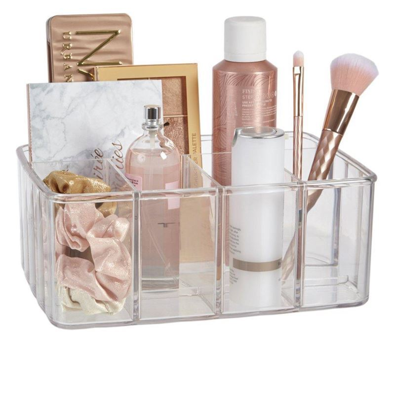 Anasazi – Glam Acrylic Divided Cosmetic Organiser Tub
