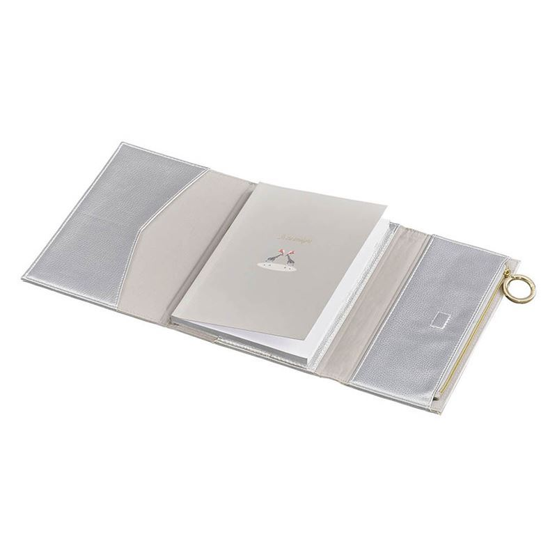 Ted Baker – Notebook with Pencil Case- Silver