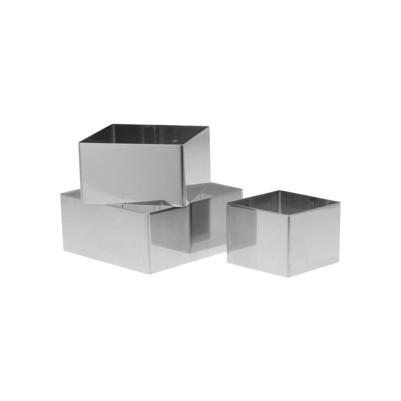 NovaCook – Stainless Steel Food Squares 3pc