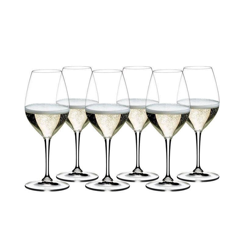 Riedel Vinum – Champagne Wine Glass VALUE 6-PACK 265 Year Anniversary (Made in Germany)