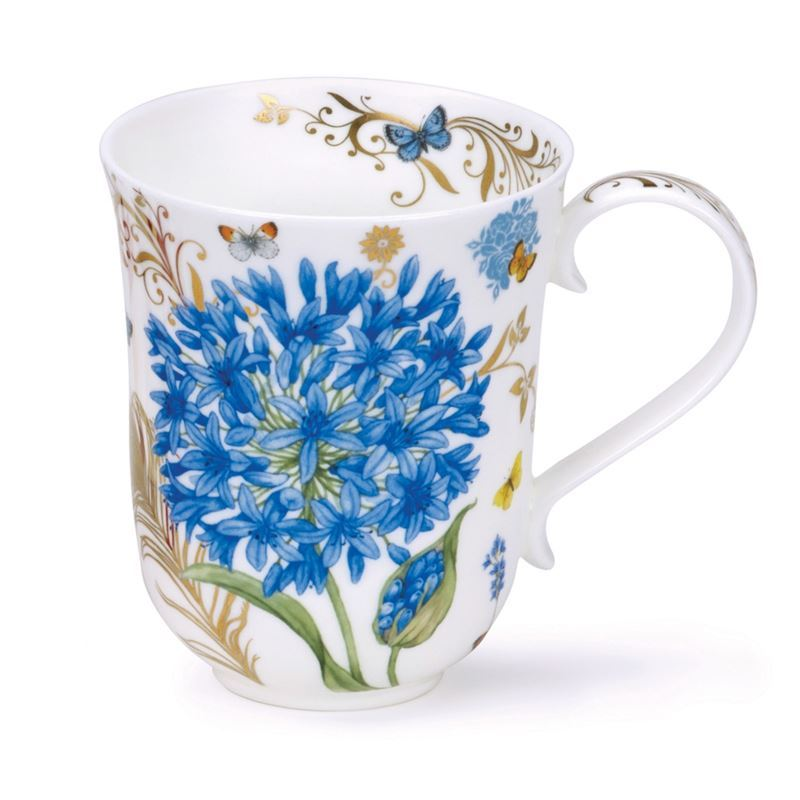 Dunoon – Braemar Bone China Mug 330ml Vintage Blue (Made in England)