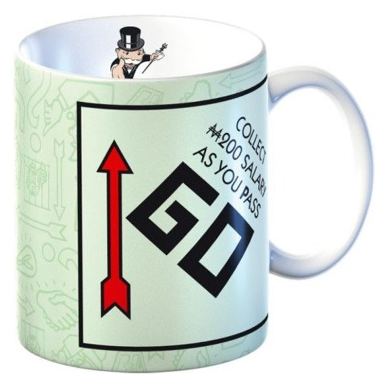 Monopoly – Mug in Gift Box Collect $200 when you Pass Go