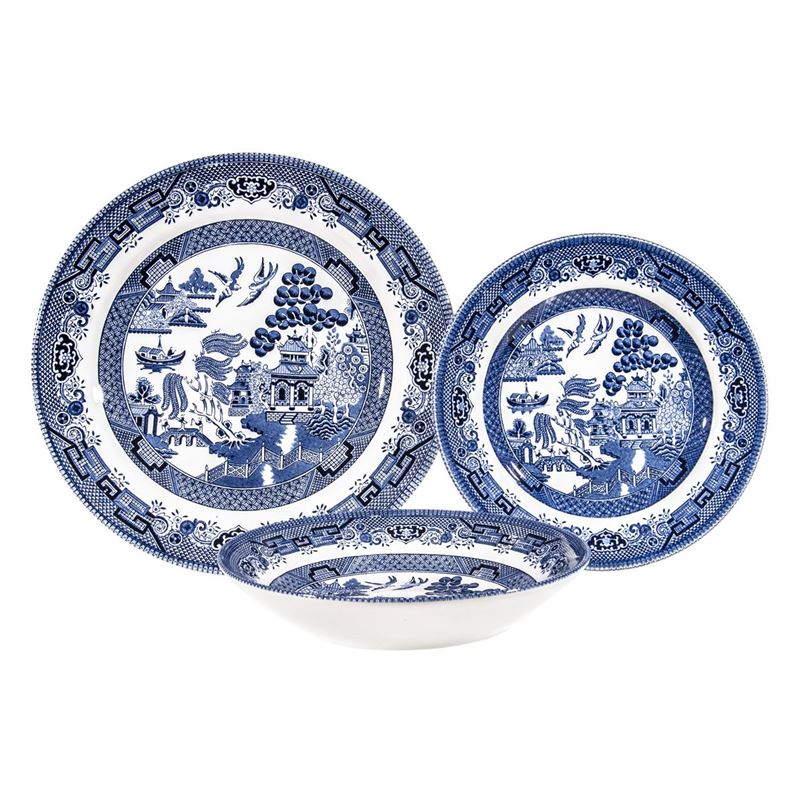 Queens by Churchill – Blue Willow 12pc Dinner Set (Made in England)