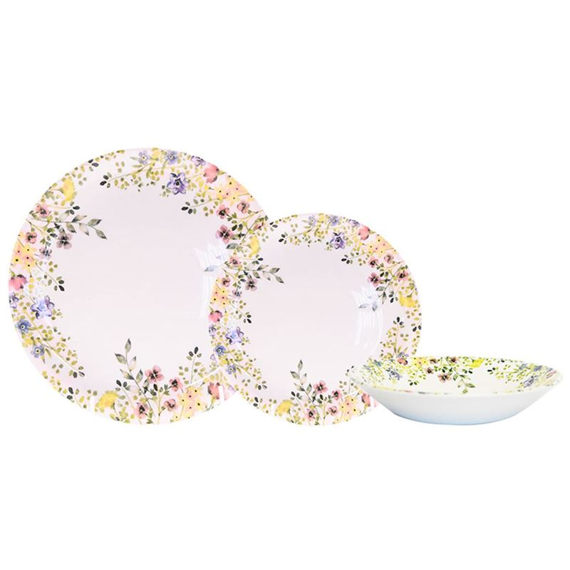 Queens by Churchill – 12pc Dinner Set Wildflower Bloom (Made in England)