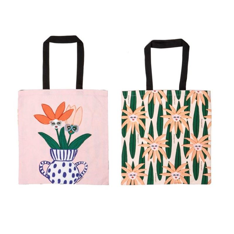 Bouffants & Broken Hearts – Jungle Rumble Face Plant Double Sided Tote Bag 45x42cm