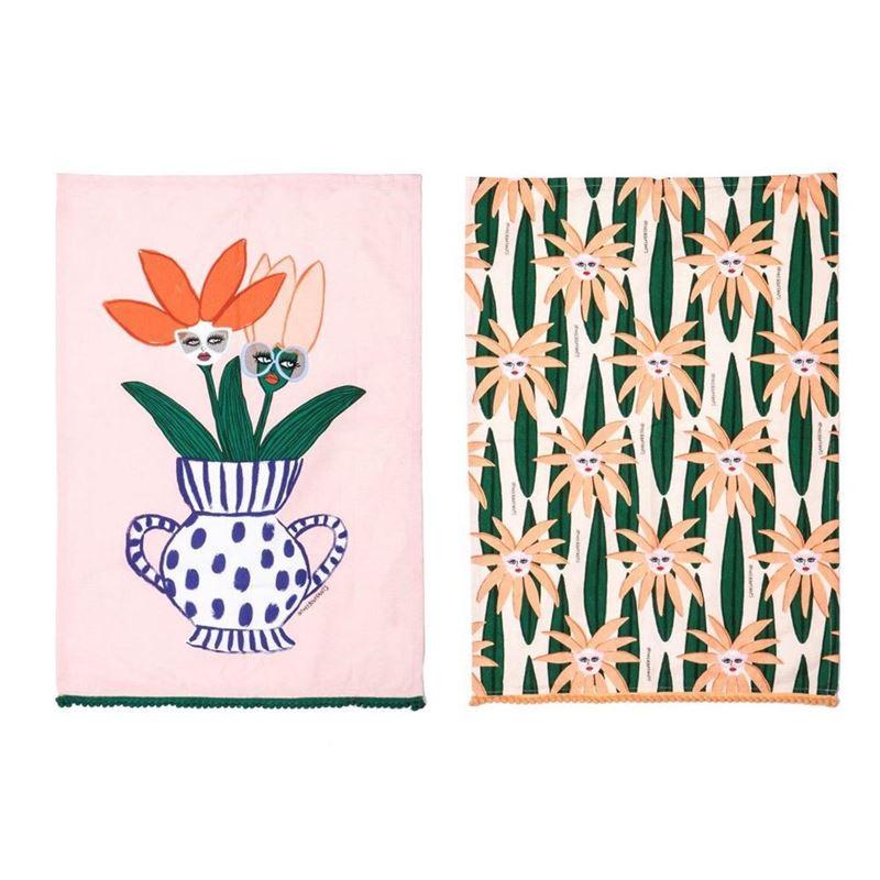 Bouffants & Broken Hearts – Rumble Face Plant Tea Towel Set of 2 70x50cm