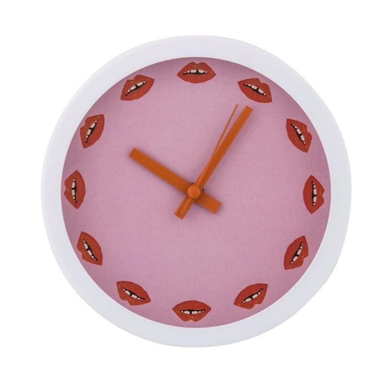 Bouffants & Broken Hearts – Luscious Lips Mantle Clock15cm