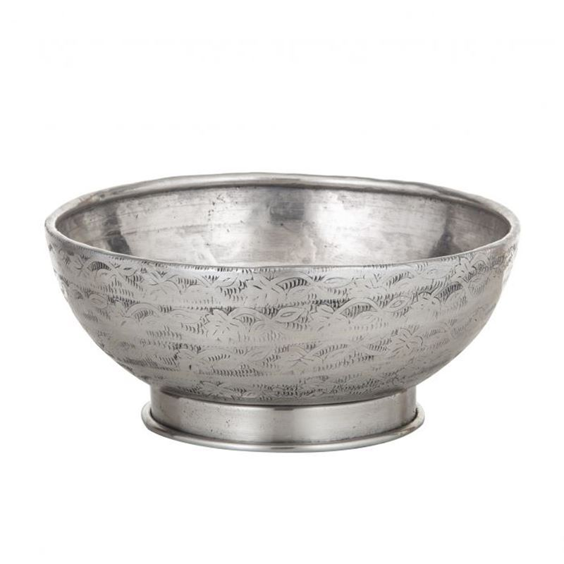 Davis & Waddell – World Gourmet Ravi Footed Serving Bowl Antique Silver 20x20x9.5cm