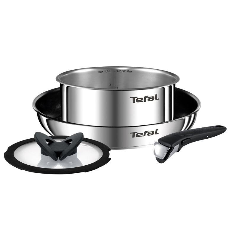 Tefal – Ingenio Emotion Space Saving Stackable Stainless Steel Induction 4pce Cookware Set