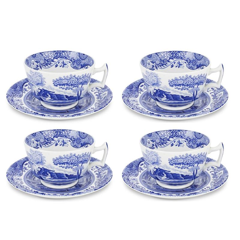 Spode – Blue Italian Breakfast Cup 280ml SET OF 4 (Made in England)